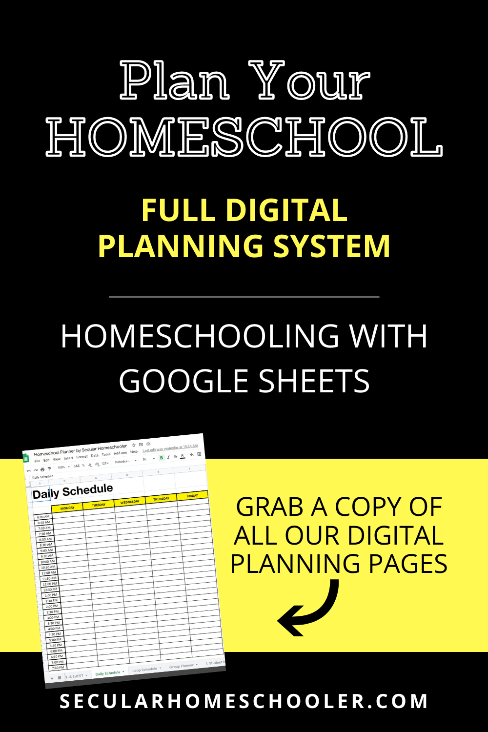 Homeschool Planner Free How to Plan Year Homeschooling With Google Sheets Secular Homeschooler